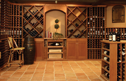Builder construction new homes remodel paso robles for Wine rooms in homes